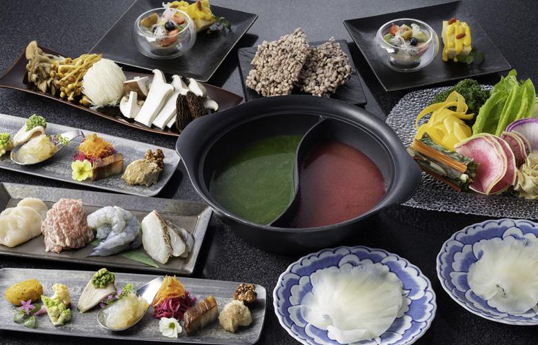 粥ベジ鍋コース「ふかひれグーオ」11000円