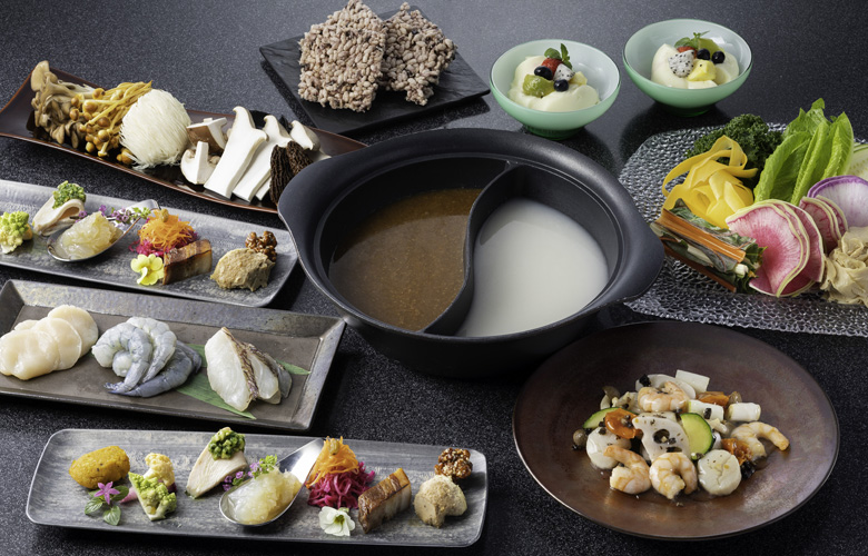 粥ベジ鍋コース「海鮮グーオ」8800円